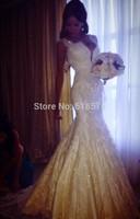 vestidos de fiesta Vintage Beaded Lace Mermaid Backless Wedding Dresses
