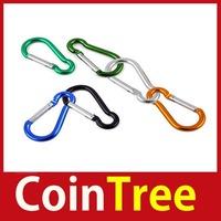 Economic benefit cointree 2 X Aluminium Carabiner Camping Hiking Hook Keychain L Worldwide free shipping DIY