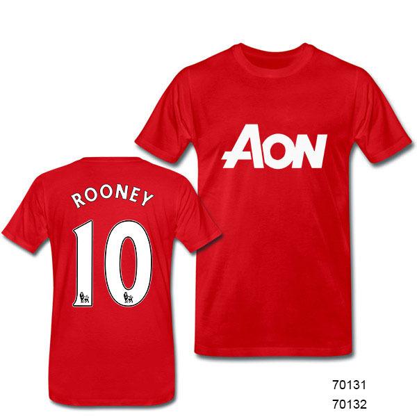 Free Shipping Best Quality England Star Club Jerseys 10 WAYNE ROONEY Soccer Jersey Men Football Shirts Wholesale(China (Mainland))