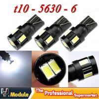2X Super Bright 3W T10 W5W 194 168 6 SMD 5630 5730 Led Car Wedge Clearance Parking License Plate Rear Turn signal 12V #YNB88