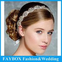 Luxury Rhinestone Bead Hand made headdress jewelry bridal headpiece Hair headband Wedding accessories