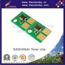 (TY-LE450) reset laser printer toner chip for Lexmark E450 E450dn for IBM 1622 1612 E450A21X E450H21X 6k 11K BK free dhl
