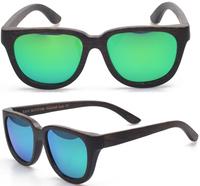 Free shipping Black Walnut and Carbonized Bamboo Wooden Sunglasses  Fashion Polarized UV protection glasses in stock (WA35)