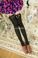 Women's False High Splicing Cute Panda Silk Stockings SH1