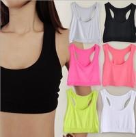2014 HOT New Women Sexy Athletic Sports Bra Cropped Tank Tube Tops Bandeau Yoga Racerback Sleeveless Vest