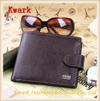2014 New Male Men's Short Wallet Genuine Leather soft wallets Coins change Purse cowhide Bifold Card Holder Billfold Pocket