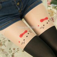 Women's Clothes Miaow Kitten False High Splicing Silk Stockings SH17