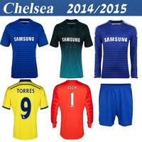 Chelsea 14 15 Best Thailand Quality Fabregas Diego Costa Drogba Matic Women Schurrle Shirt OSCAR HAZARD Home Customize