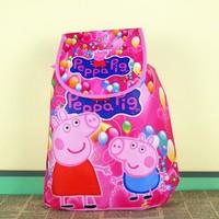 2014 Hot Selling ,children's backpack peppa pig  Backpack School Bag , camping bags christmas gift bag for kids girls free