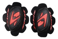 Free shipping! GP MOTORCYCLE A-star KNEE SLIDERS REPLACEMENT RACE ONE SIZE BLACK RED