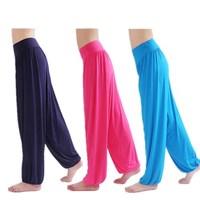 Women's PLUS SIZE NEW Cotton Spandex Bella Yoga Pilates Workout Pants Comfy Loose Home Ware Play Pants Lounge Pants Dance Club