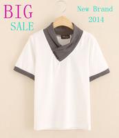 Big sale boys t shirt 2014 brand summer kids boys clothes short sleeve cotton fashion casual children t shirt european style