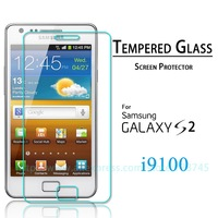 Premium Tempered Glass Screen Protector For Samsung Galaxy SII S2 I9100 Protective Film 2014 New High Quality Free shipping