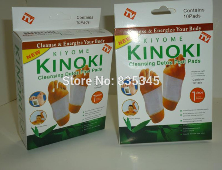 New 2014 Kinoki Foot Patch Detoxifies Improve sleep Foot Care 10 Boxes of 200 PCS / Wholesale(China (Mainland))