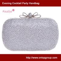 Butterfly clasp diamond mesh ladies party clutch trendy women handbag wedding prom bag