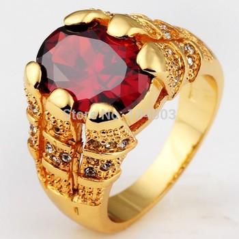 желтого золота кольца мужские рубинового 10kt палец кольца для человек ювелирных размера 9/10/11/2014 12 высокое качество