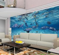 Custom photo wallpaper 3D stereoscopic underwater world of children's room TV background 3d mural wallpaper