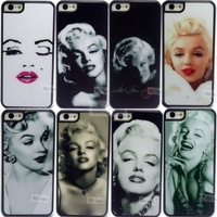 Stylish Marilyn Monroe Bubble Gum Hard Cover Cases For Apple iPhone 5 5G 5S Case Phone Protective Shell Back Cover