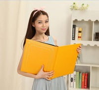2014 New Limited Freeshipping Interleaf Type 6 Inch General Photo Album Bronzier Leather couples Big Photo Album 200 sheets