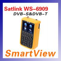 """1pc Original Satlink WS-6909 3.5"""" DVB-S & DVB-T Combo satellite meter satellite finder 6909 satlink ws6909 free shipping post"""