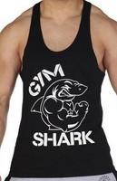 Summer hot 2014 new gym vest shark fashion classic comfortable tank top men fitness mens singlet sport elastic Bodybuilding vest