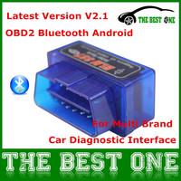 Sales! Super Mini Buletooth Elm327 V2.1 OBD2 OBD II Scan Tool Elm 327 Android Torque Car Diagniostic Interface Wholesale