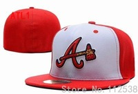 Retail one cap free shipping Atlanta Braves fitted hats sporting baseball team caps ATB103