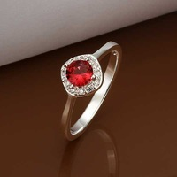 Wholesale!!Free Shipping 925 Silver Ring,Fashion Sterling Silver Jewelry Austria Crystal Fashion Ring SMTR328