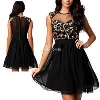 summer dress 2014 sexy women leopard sleeveless tunic party club celebrity mesh backless mini lace dress