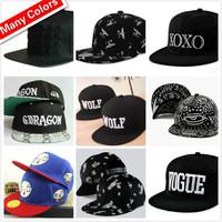 West Boy Wolf London Snapback For Men Women Harajuku Eye Paisley Stars Leather Brim XOXO Simpson Dollar Dragon Baseball Cap  Hat