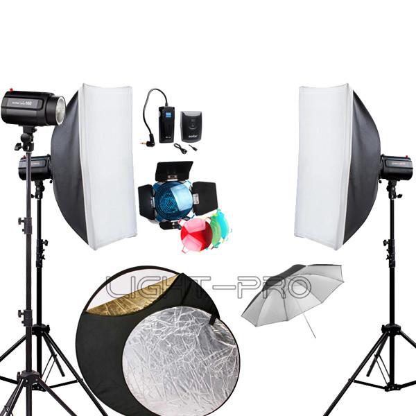godox 480w 480ws godox 3 x 160w 160di Fotostudio strobe blitzlicht mit softbox schirmreflektor kit