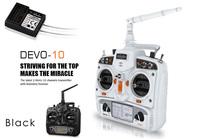 2014 New Walkera DEVO 10 Transmitter 10CH 2.4GH  2KM Signal Rrmote Controller + RX1002 Receiver LCD Digtal Display Radio System