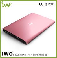 New stylish IWO P48 18000MAH large capacity power bank,ultra slim big size cell phone charge battery