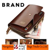 B.King 2014 New Luxury Brand Long Desigual Zipper Men Wallets , High Quality Unique Wallet Men Business Clutch Handbag