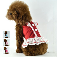 Puppy  pet dog cotton dress   , Cute lady dress For Dog Cat ,Pet Product,dog Summer Clothing