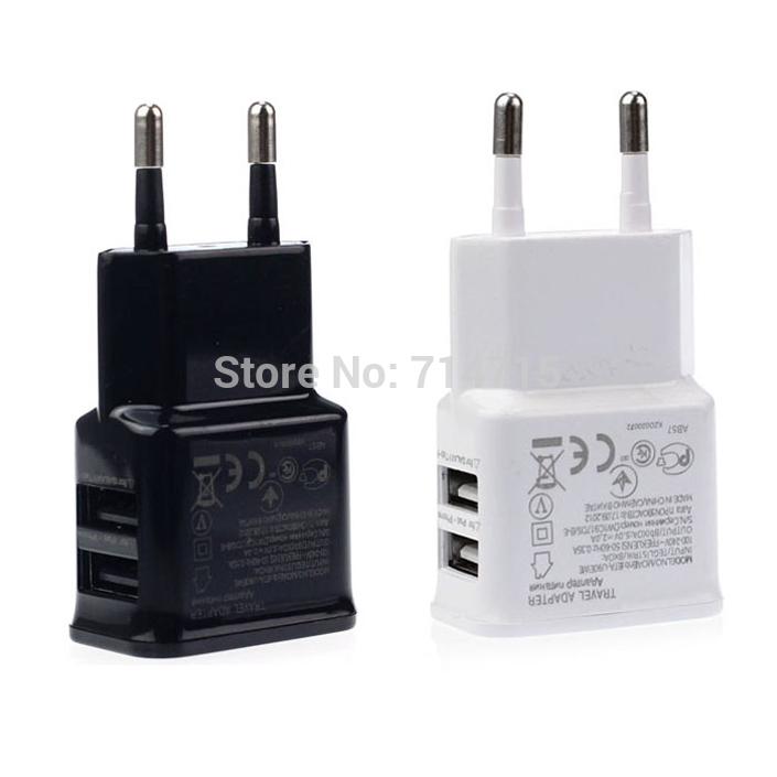 2A Dual 2 Ports USB EU Wall Charger