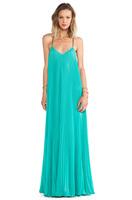 2014 NEW ARRIVAL Free Shipping Women Floor-length Draped Bohemian Chiffon Long Dress Cross Straps Back Dress