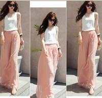 2014 Hot! Lowest Price Women Korea Fashion Candy Color Slim Women Tank  Blouse and Shirt Tops Drop Shipping Free Shipping