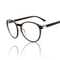 2015 New Metal Decoration Big Round Myopia Glasses Frame  Spectacle Eyeglasses Glasses Optical Frame Men / Women Oculos De Grau