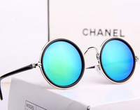 Round Designer Steam Punk Sunglass Metal Oculos De Sol Women COATING SUNGLASSES New Men Retro CIRCLE Sun GLASSES Gafas