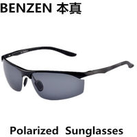 2014 new men sunglasses sports polarized sun glasses  alloy driver driving  shades with case black 2005A