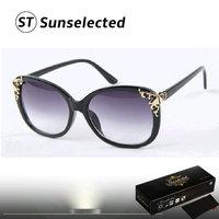 Free dropshipping Women's Retro baroque Sunglasses Designer Golden Flower Shape Perfect Fashion Statement This Season sg217