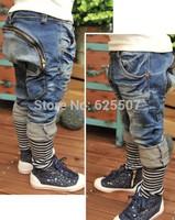 Free shipping 2014  kids jeans trousers 2014 Spring new design children harem pants boys/girls pant fashion kids wears