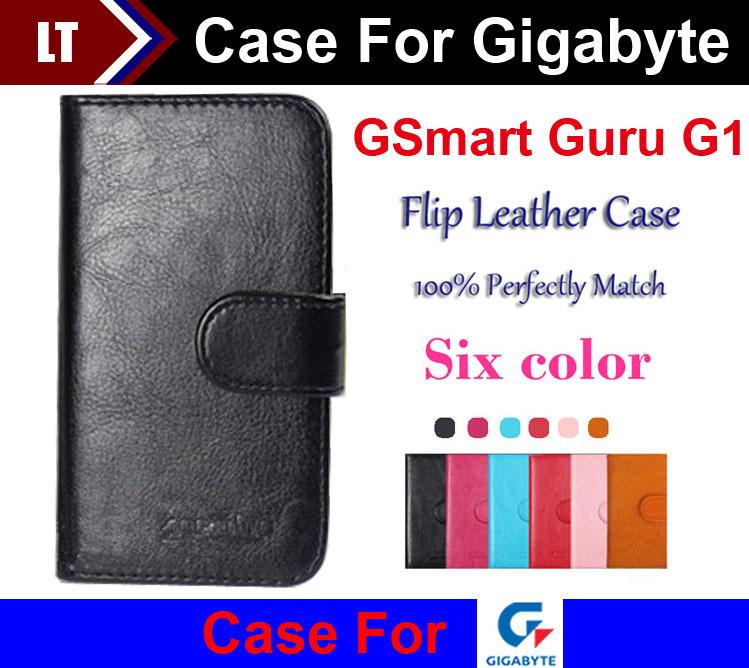 In Stock! Flip Leather Card Holder Wallet Protective Cover Case For Gigabyte GSmart Guru G1 Phone Slip-resistant(China (Mainland))