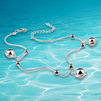 New Arrival!! Anklets 925 Silver Fashion Jewelry Personality Gift  for women