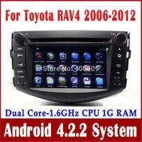Android 4.2 Car DVD Player for Toyota RAV4 2006-2012 w/ GPS Navigation Radio TV BT USB MP3 AUX DVR 3G WIFI Video 1.6G CPU+1G RAM