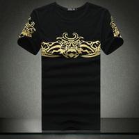 Men tShirt,2014 Fashion O-neck Casual short-sleeve t-shirt,Men's t shirt ,size 3 XL,4XL,5XL,6XL