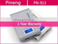 Original Pineng Power Bank 15000mAh PN-929 Dual USB For Samsung S5 S4 Note3 Note2 Iphone 5 5S Ipad/Retail Box/Silver