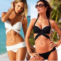2014 New Style Beach Bikini Sexy Bandage Push Up Bandeau Swimwear Women  Swimsuit The Bathing Suit Beachwear Crazy Promotion