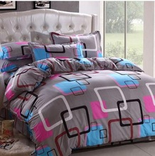 21Designs Promotion 2014 Korean 100% cotton Reactive printed cover Bedding sheet bedspread pillowcase queen bed sets - In stock(China (Mainland))